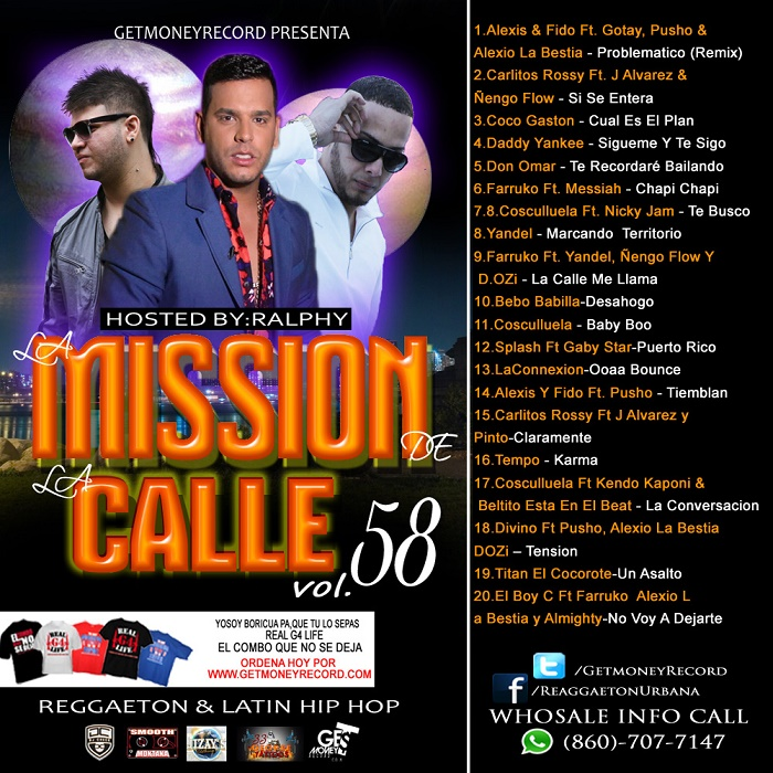 Various Artists – Reggaeton & Latin Hip Hop La Mission De La Calle Vol.58 (2015)