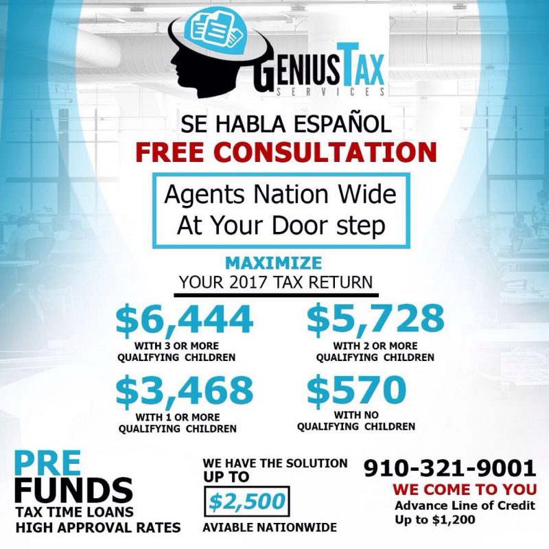 Genius Tax Services The Best For Your Maximum Tax Refunds